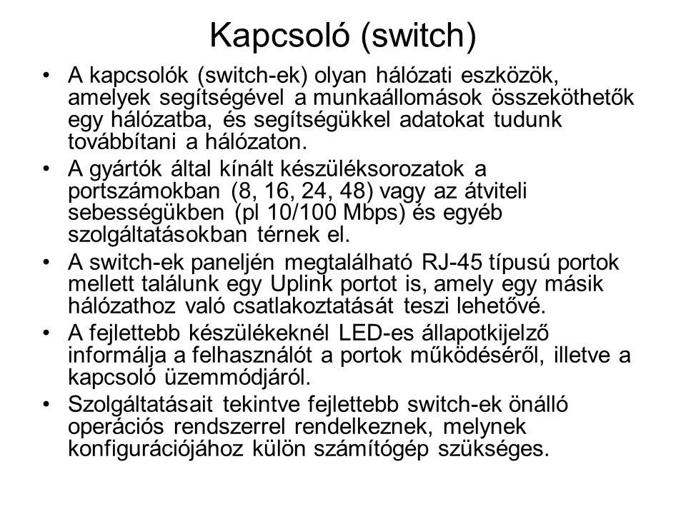 Kapcsoló (switch)