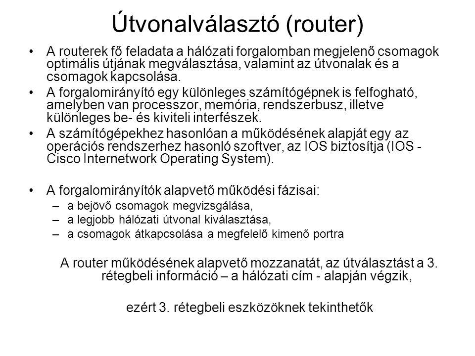 Útvonalválasztó (router)