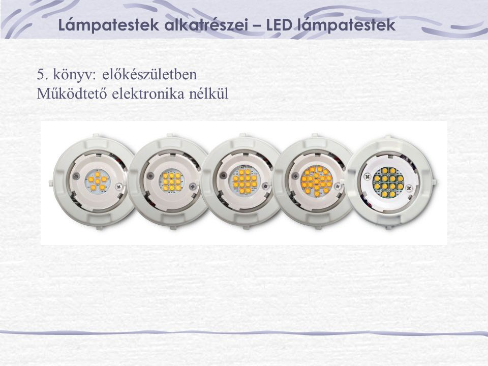 Lámpatestek alkatrészei – LED lámpatestek