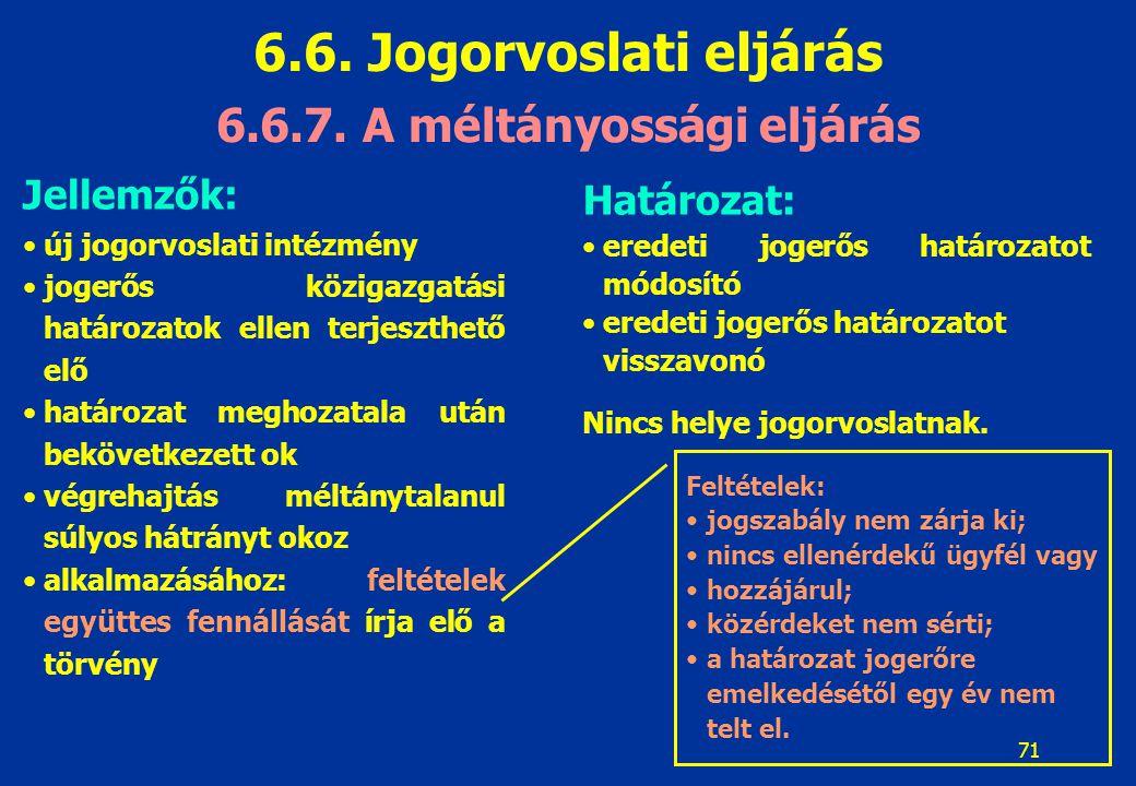 6.6.7. A méltányossági eljárás