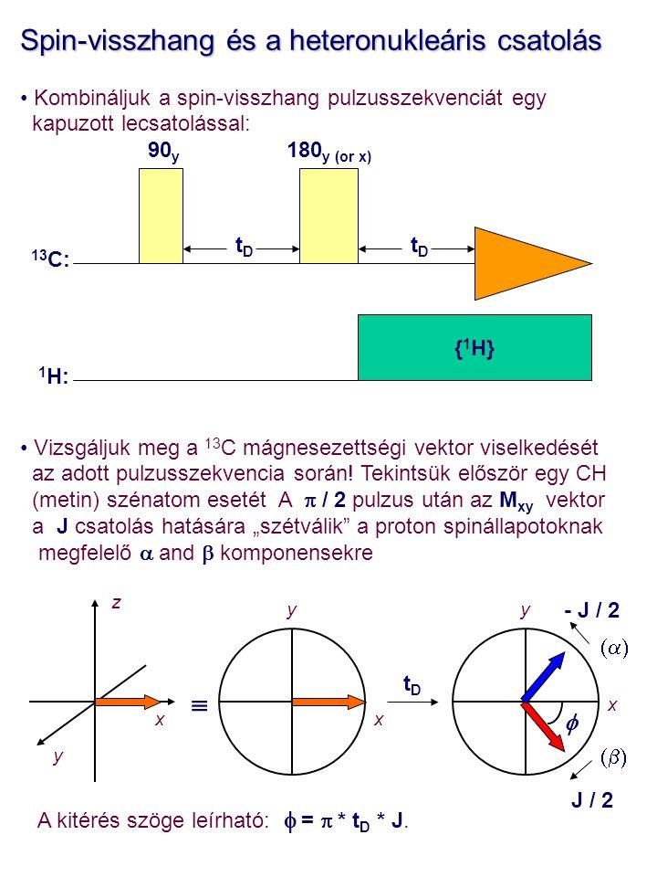 Spin-visszhang és a heteronukleáris csatolás