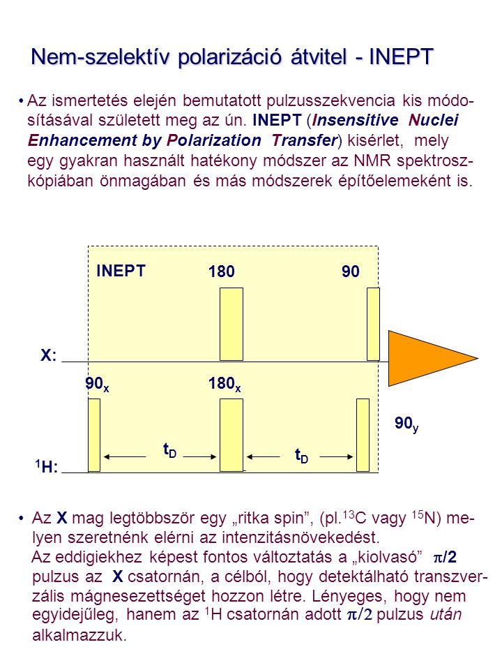 Nem-szelektív polarizáció átvitel - INEPT