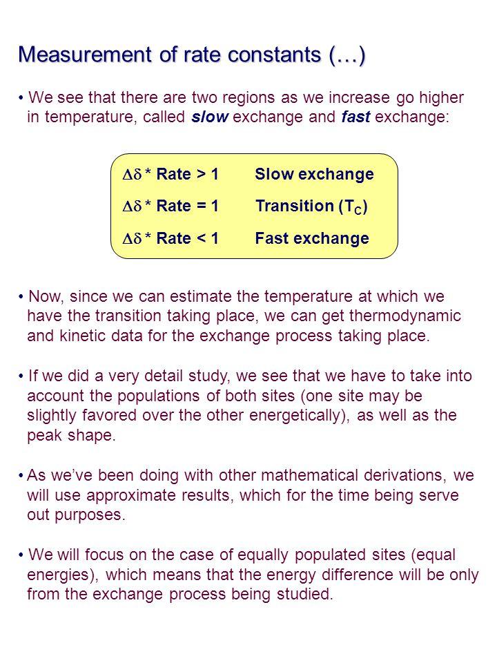 Measurement of rate constants (…)