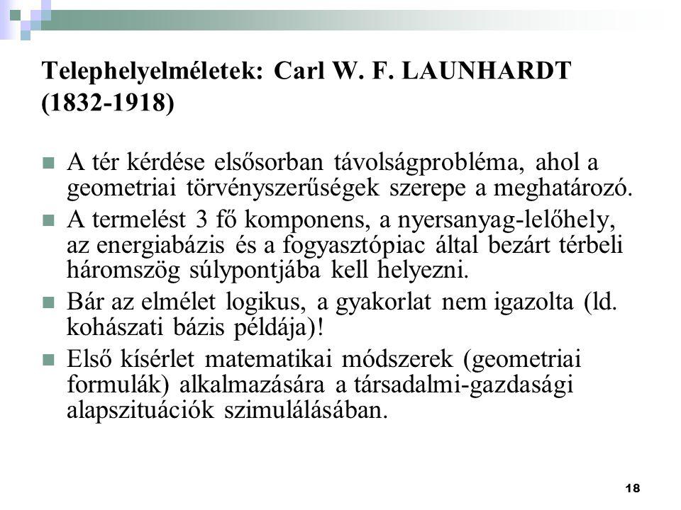 Telephelyelméletek: Carl W. F. LAUNHARDT (1832-1918)