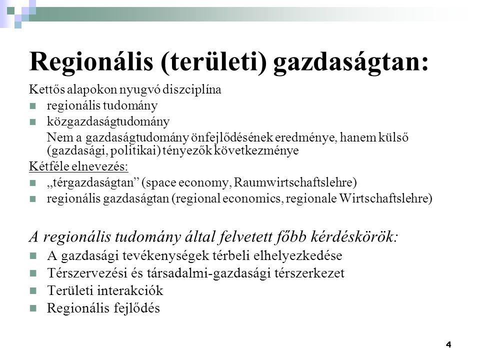 Regionális (területi) gazdaságtan: