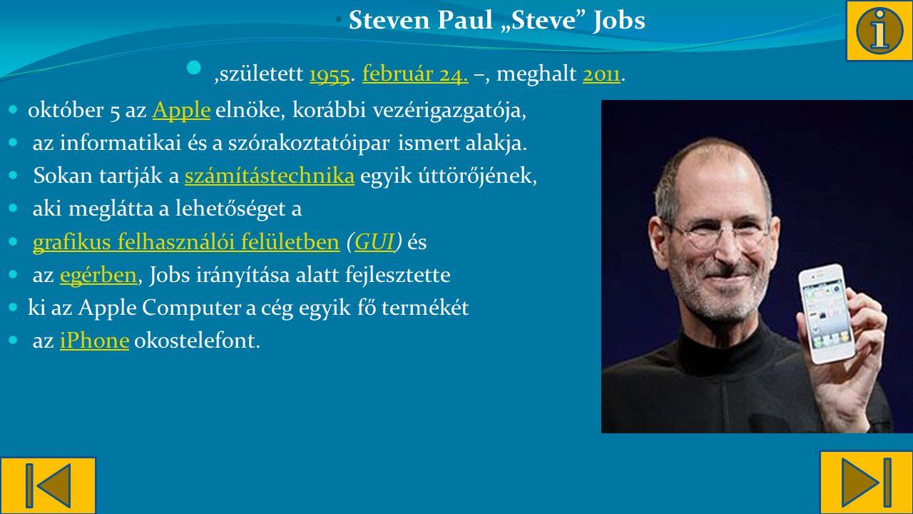 """Steven Paul """"Steve Jobs"""