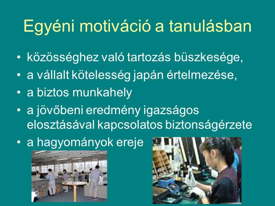 Egyéni motiváció a tanulásban