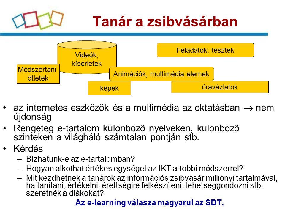 Az e-learning válasza magyarul az SDT.