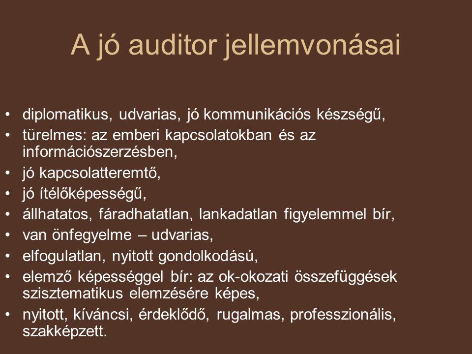 A jó auditor jellemvonásai