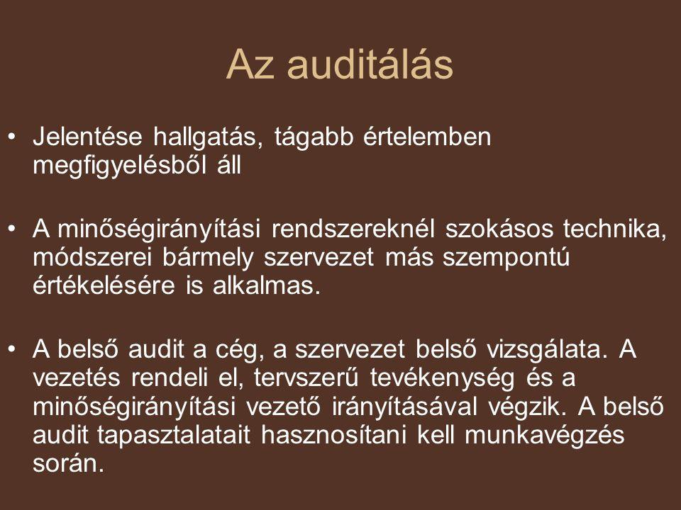 Az auditálás Jelentése hallgatás, tágabb értelemben megfigyelésből áll
