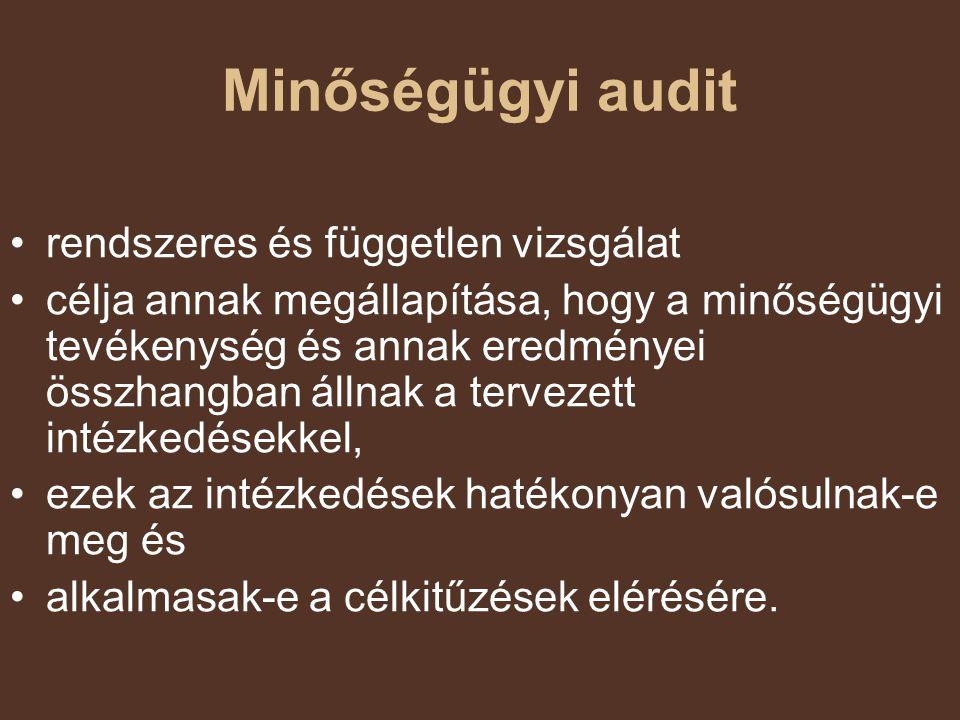 Minőségügyi audit rendszeres és független vizsgálat
