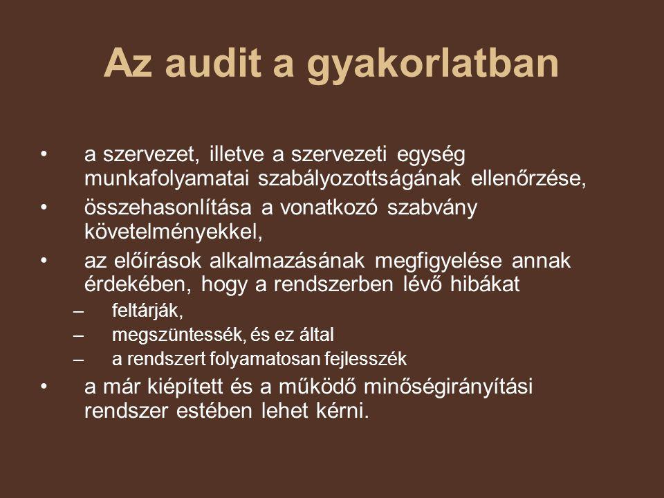 Az audit a gyakorlatban