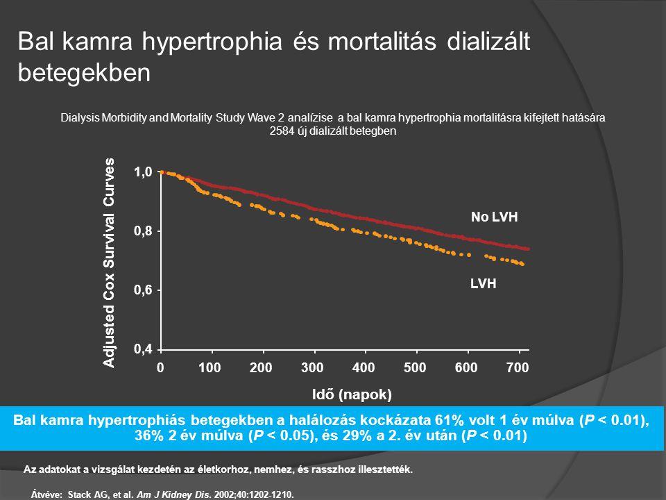 Bal kamra hypertrophia és mortalitás dializált betegekben