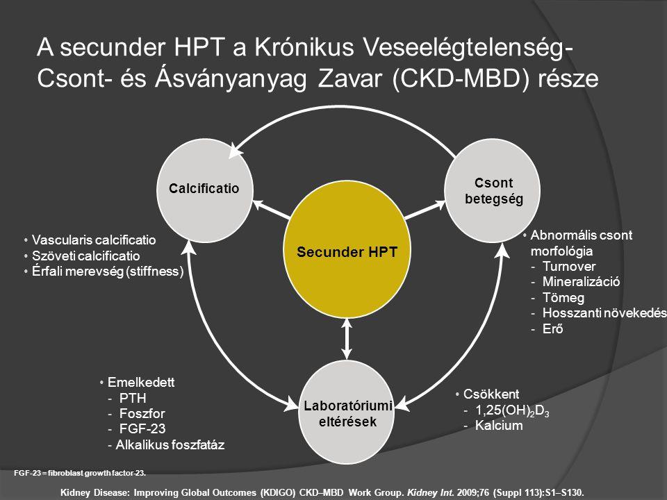 A secunder HPT a Krónikus Veseelégtelenség- Csont- és Ásványanyag Zavar (CKD-MBD) része