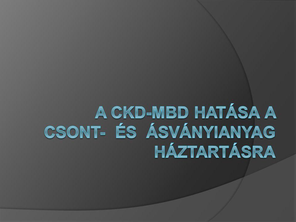 A CKD-MBD hatása a csont- és ásványianyag háztartásra