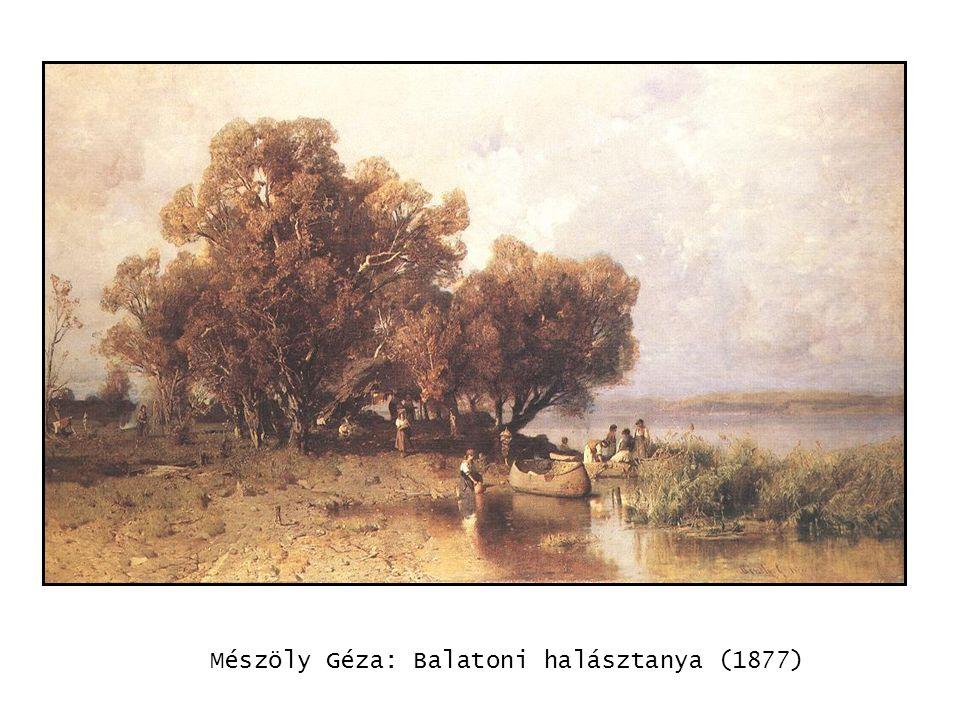 kép Mészöly Géza: Balatoni halásztanya (1877)
