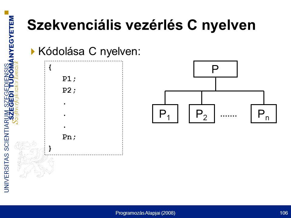 Szekvenciális vezérlés C nyelven