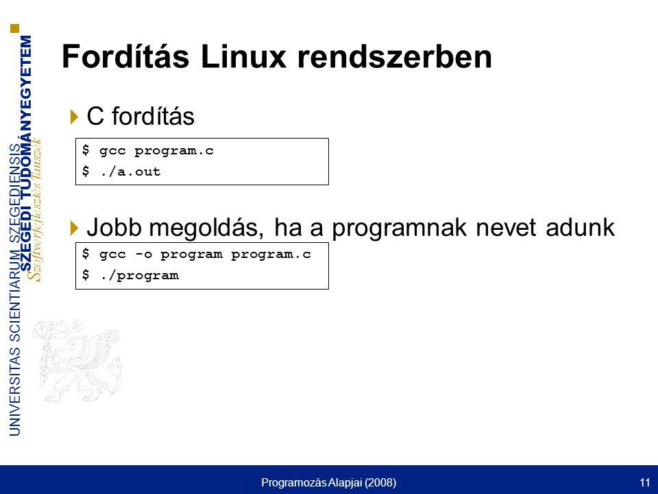 Fordítás Linux rendszerben