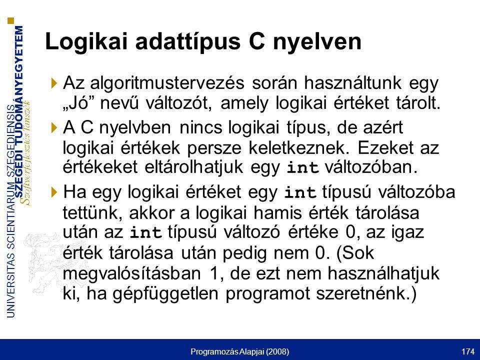 Logikai adattípus C nyelven