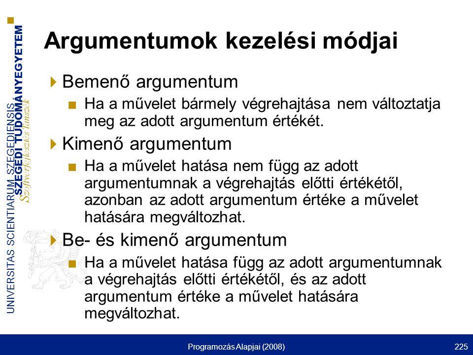 Argumentumok kezelési módjai