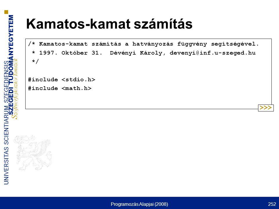 Kamatos-kamat számítás