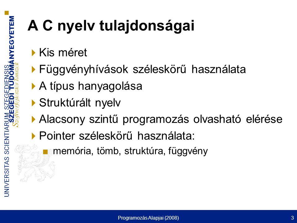 A C nyelv tulajdonságai