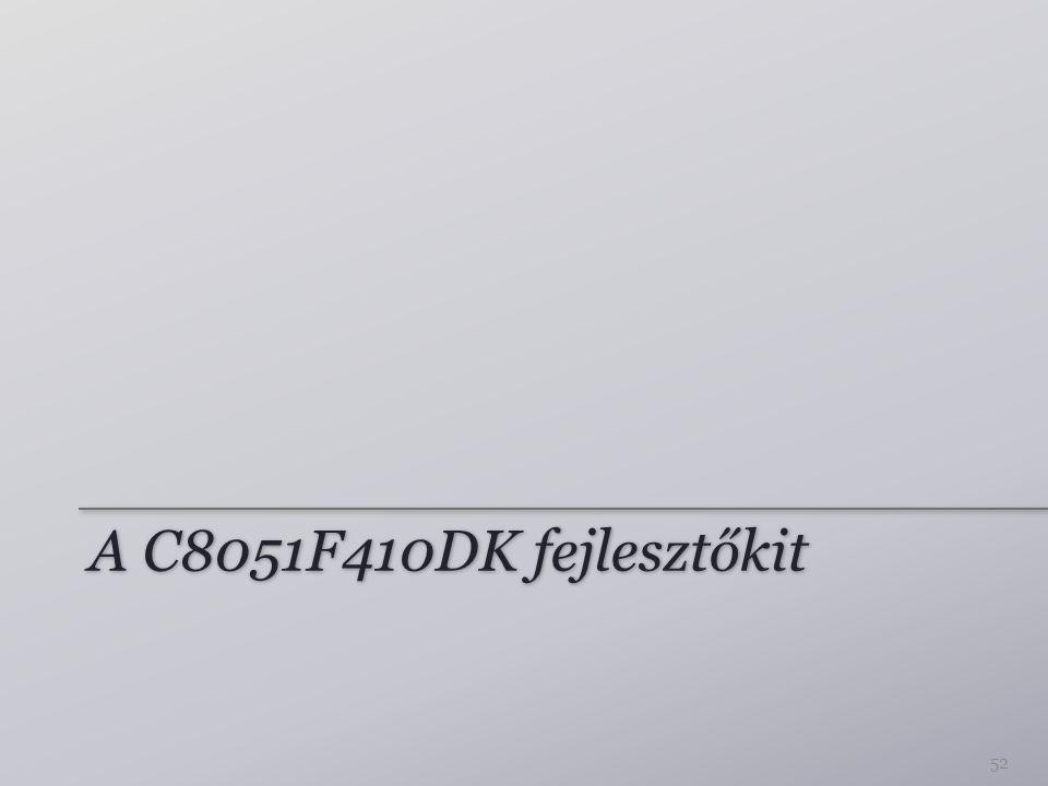 A C8051F410DK fejlesztőkit