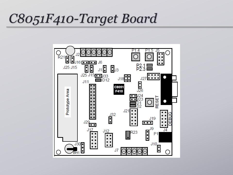 C8051F410-Target Board