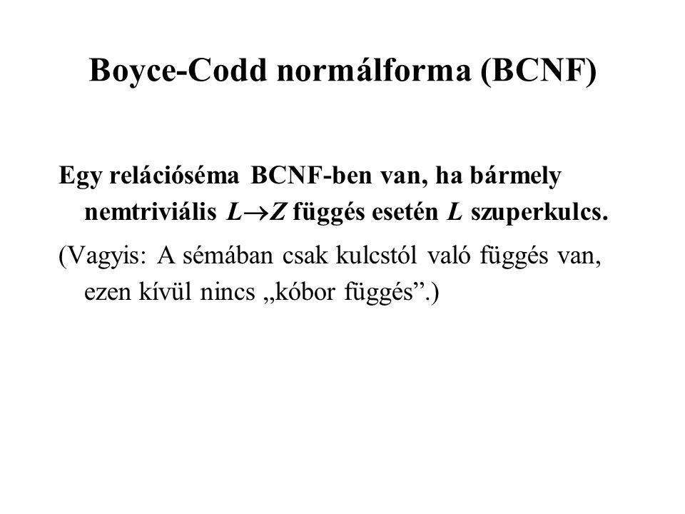 Boyce-Codd normálforma (BCNF)