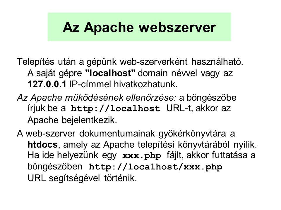 Az Apache webszerver