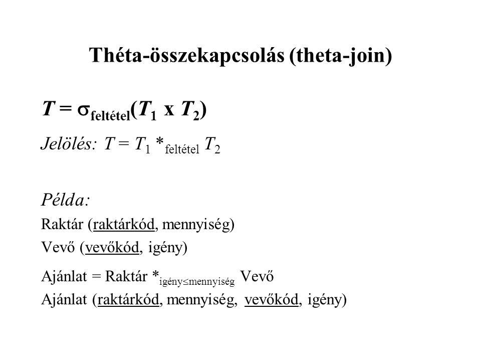 Théta-összekapcsolás (theta-join)