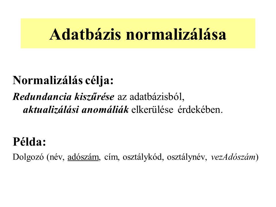 Adatbázis normalizálása