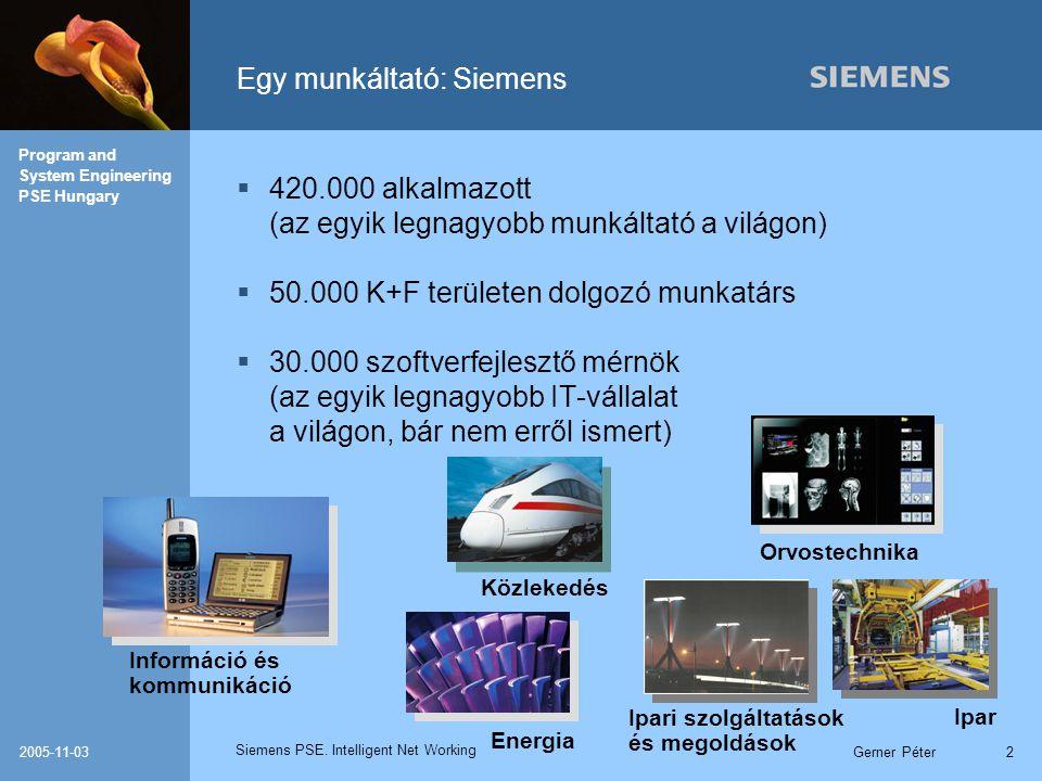 Egy munkáltató: Siemens