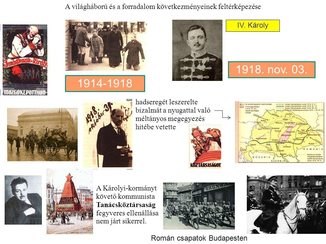 A világháború és a forradalom következményeinek feltérképezése