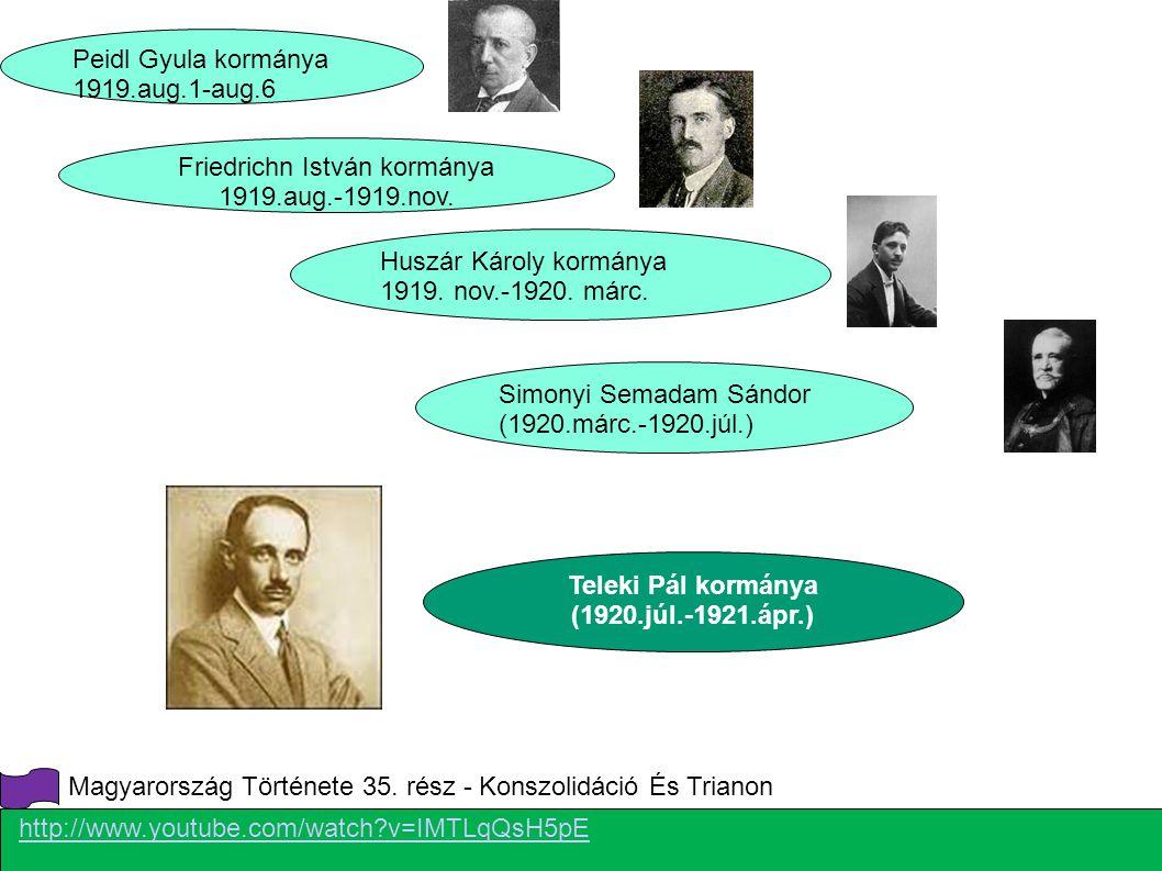 Friedrichn István kormánya 1919.aug.-1919.nov.