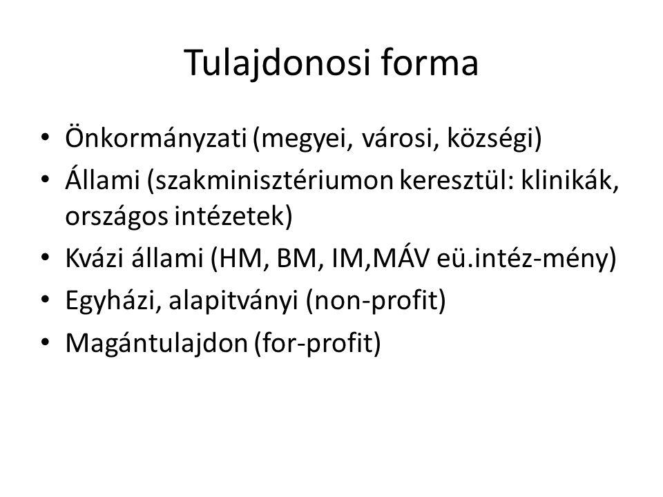 Tulajdonosi forma Önkormányzati (megyei, városi, községi)