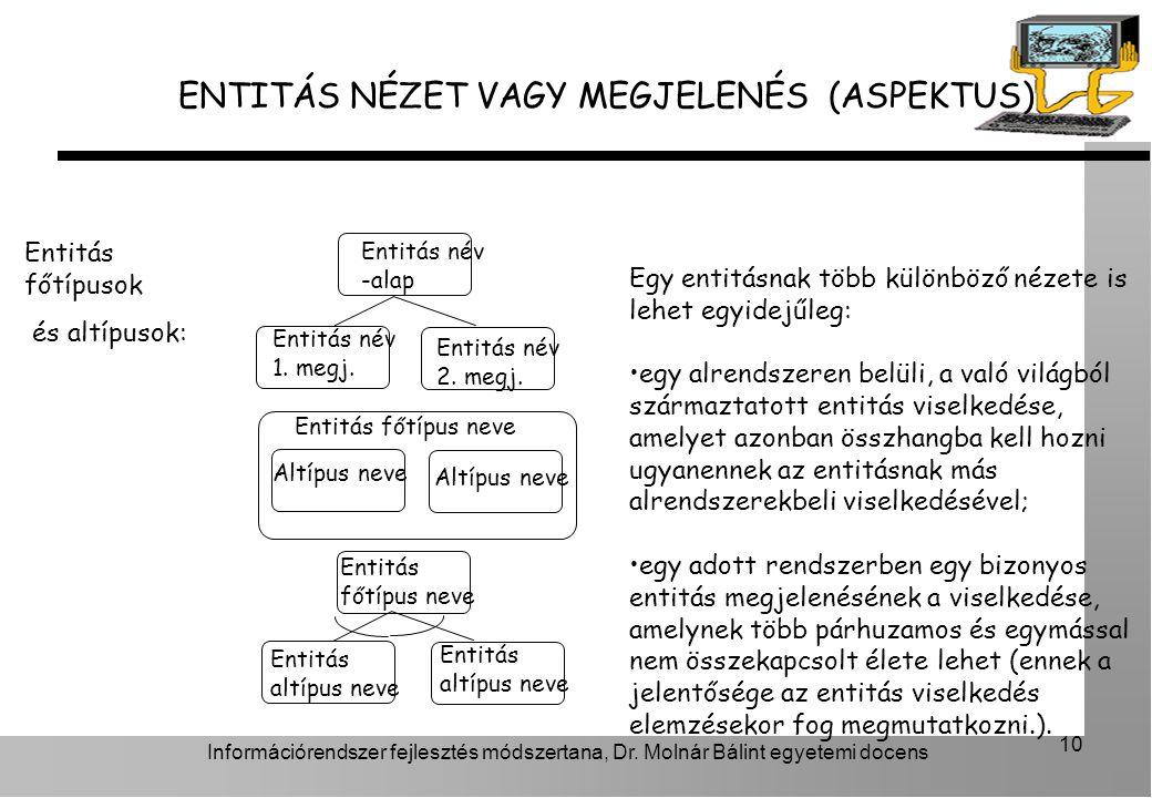 ENTITÁS NÉZET VAGY MEGJELENÉS (ASPEKTUS)