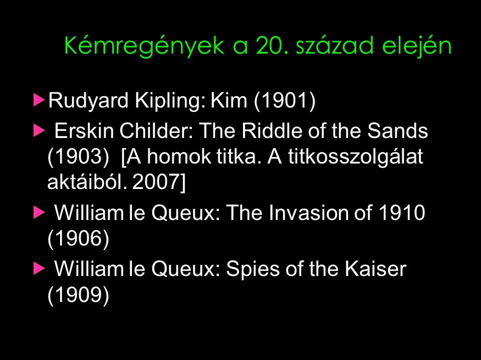 Kémregények a 20. század elején