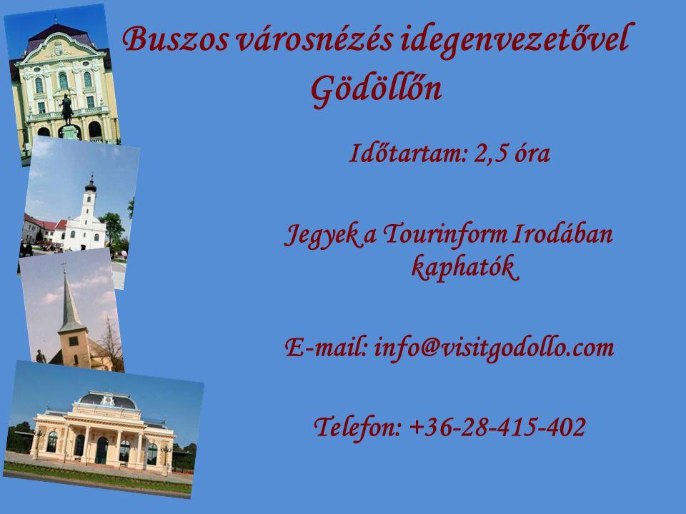 Buszos városnézés idegenvezetővel Gödöllőn