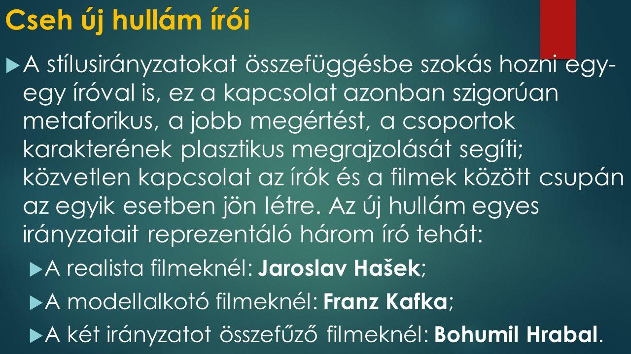 Cseh új hullám írói
