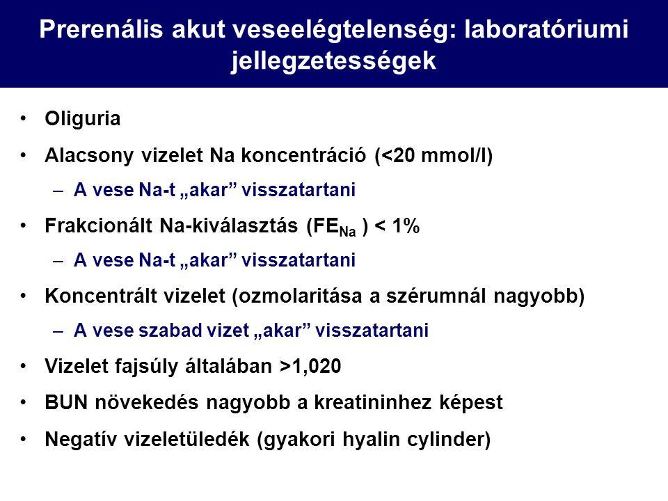 Prerenális akut veseelégtelenség: laboratóriumi jellegzetességek