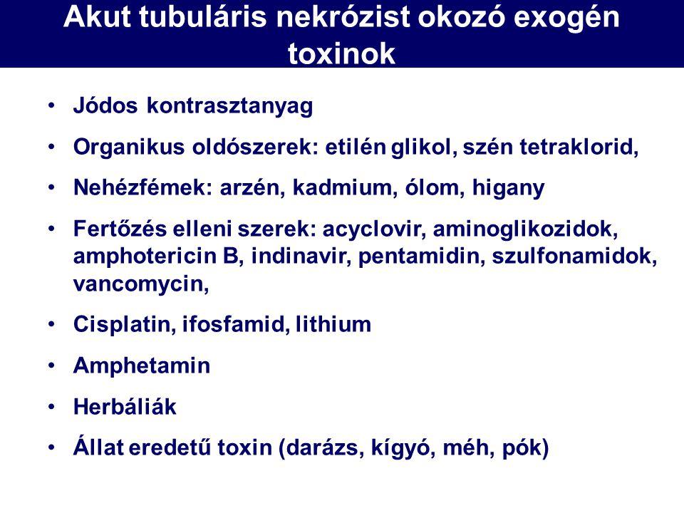 Akut tubuláris nekrózist okozó exogén toxinok