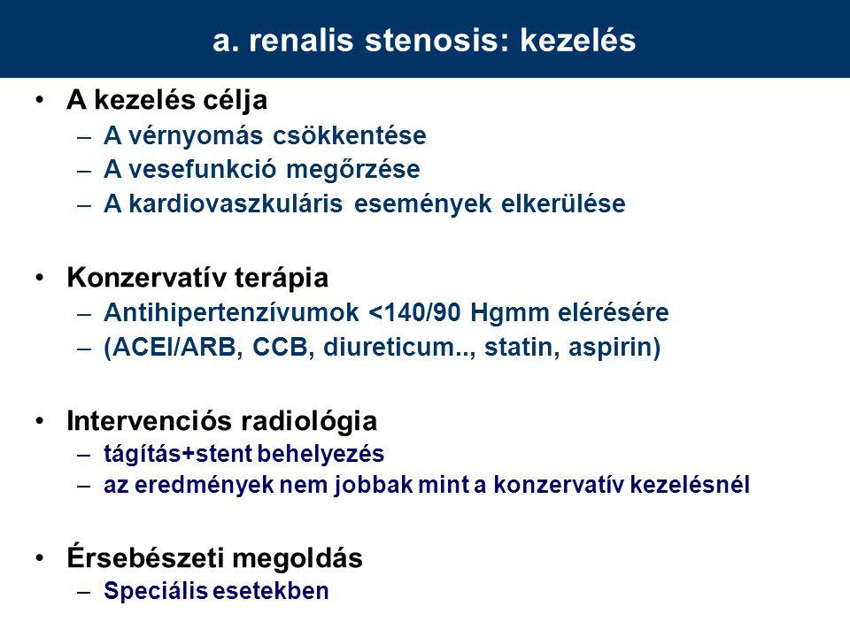 a. renalis stenosis: kezelés