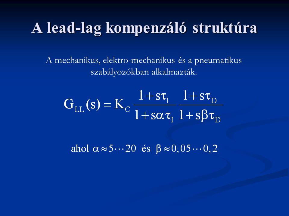 A lead-lag kompenzáló struktúra