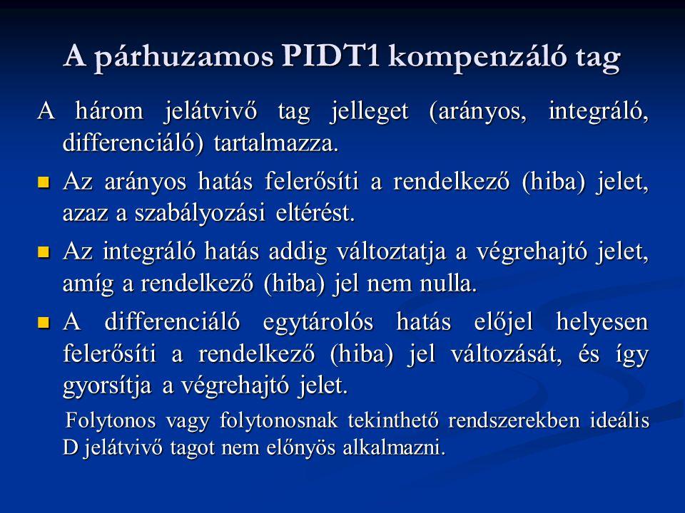 A párhuzamos PIDT1 kompenzáló tag
