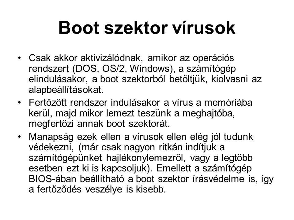 Boot szektor vírusok