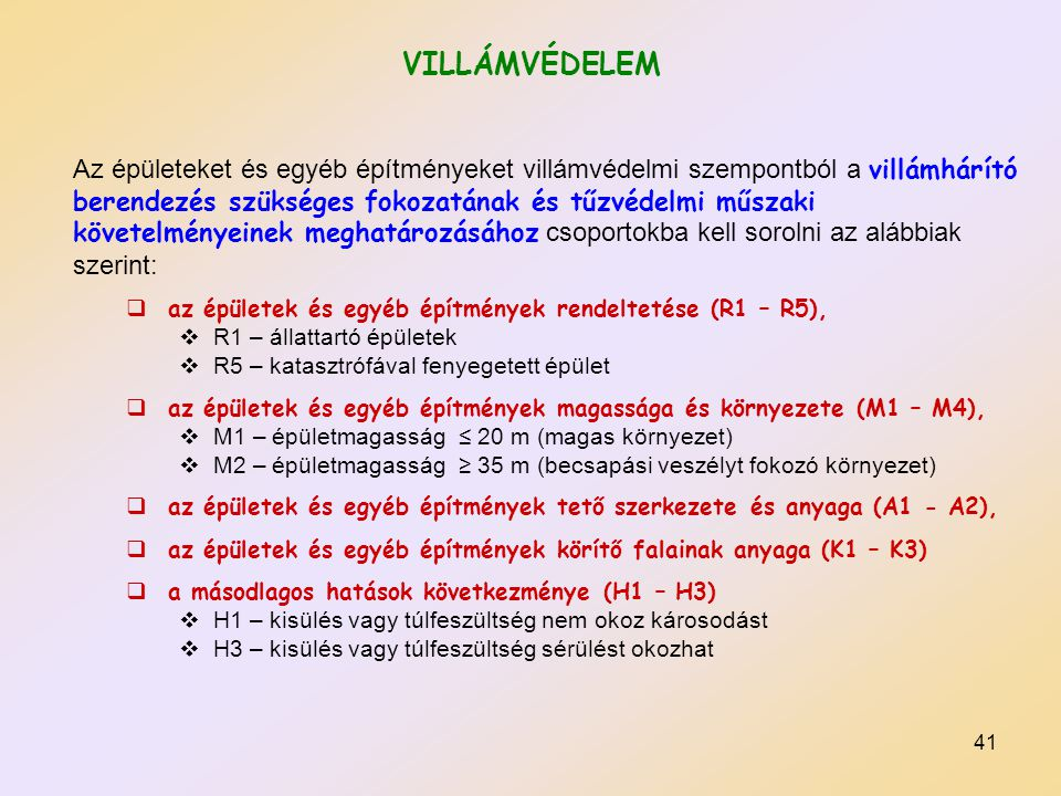 VILLÁMVÉDELEM
