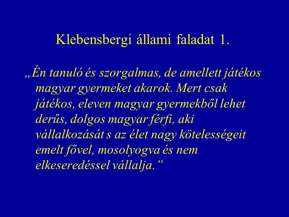Klebensbergi állami faladat 1..