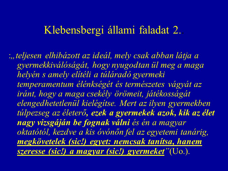 Klebensbergi állami faladat 2..