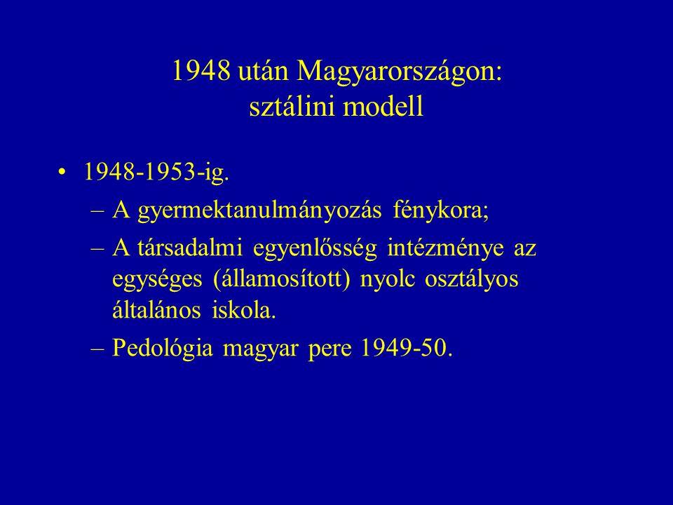 1948 után Magyarországon: sztálini modell